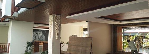 plafon kayu di Bali