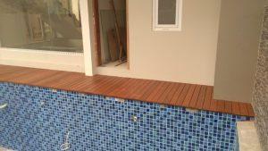 Project Lantai kayu parket dan Decking kayu Bengkirai Cipete Jakarta Selatan