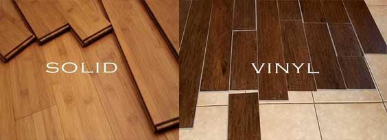 lantai kayu solid dan vinyl