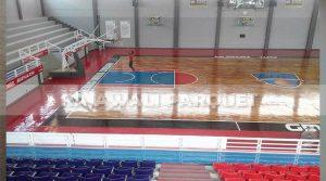 lantai kayu Jati GMC Arena Cerebon