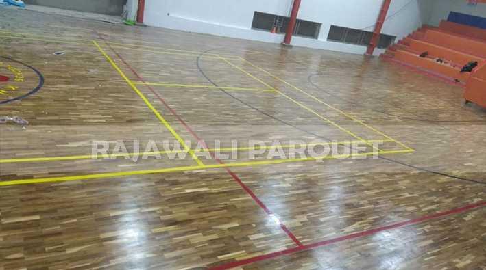 lantai kayu parket jati lapangan basket tabanan juara Bali