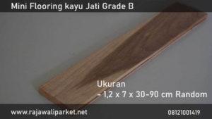 harga lantai kayu parket jati mini flooring Grade B