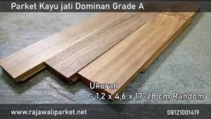 harga lantai kayu parket jati grade dominan A