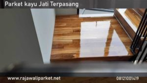 contoh pemasangan lantai kayu jati
