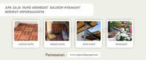 Balkon kayu murah